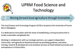 UPRM Food Science and Technology Program