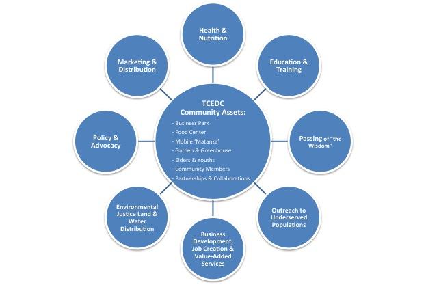 TCEDC's community food model